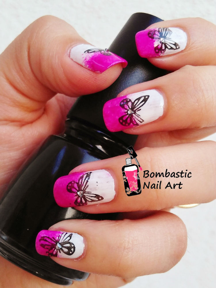 How To Draw Butterfly On Nails