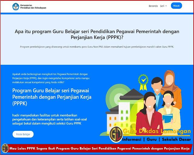 Mau Lolos PPPK Segera Ikuti Program Guru Belajar Seri Pendidikan Pegawai Pemerintah dengan Perjanjian Kerja