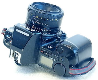 Nikon F-801s, Buttons, View top