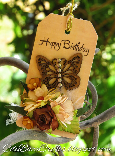 Happy Birthday Butterfly Gift Tag_CdeBacaCraftsCard