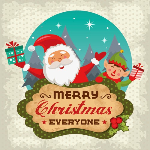 Merry Christmas Wishes Decorated Greetings Card For Mobile