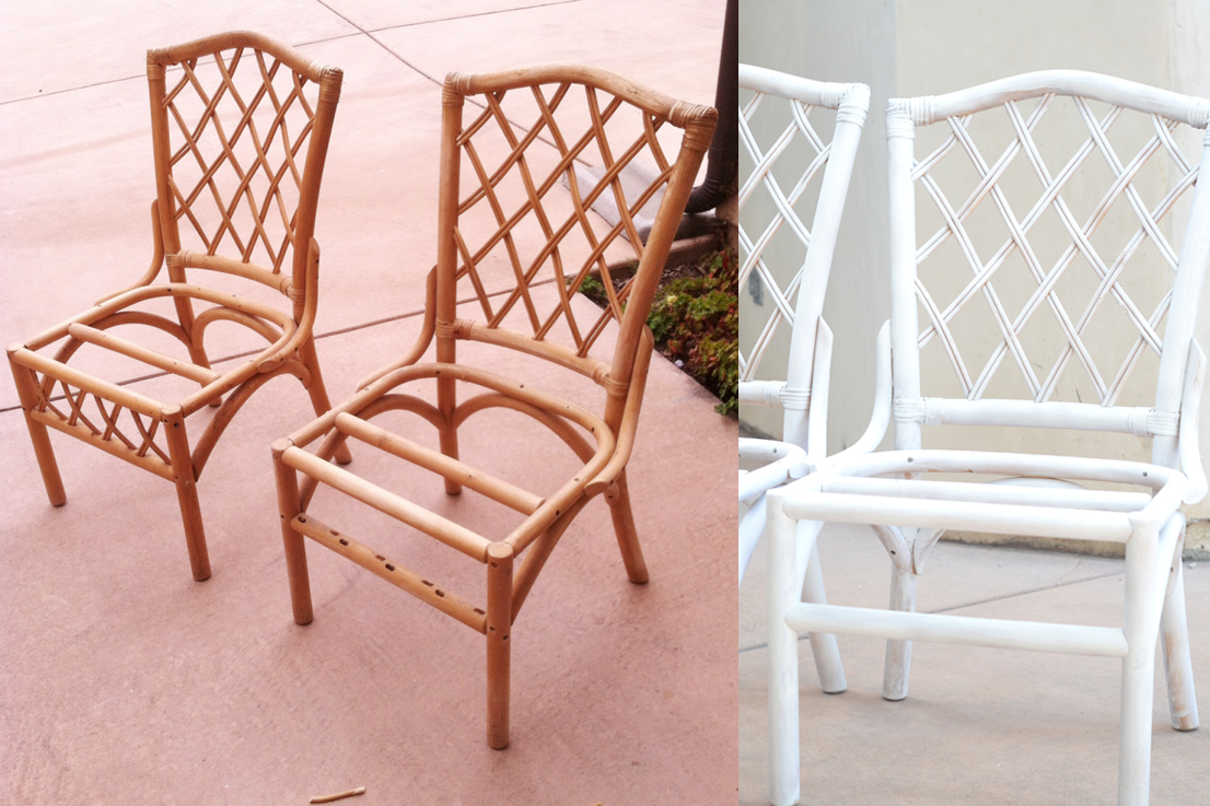 Painted Rattan Furniture Refinishing Rattan Chairs Tutorial Dorsey Designs