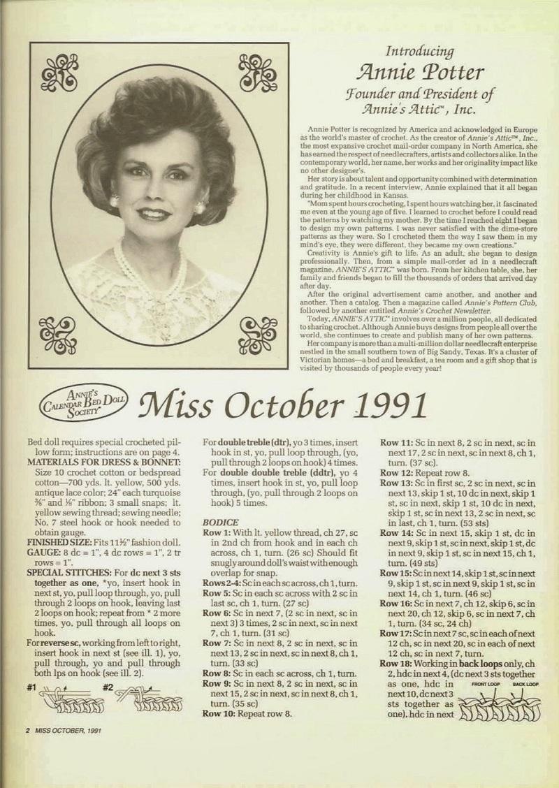 Miss October 1991 - Annie Potter