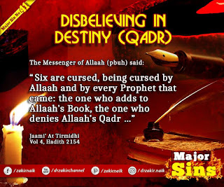 MAJOR SIN. 41. DISBELIEVING IN DESTINY (QADR)
