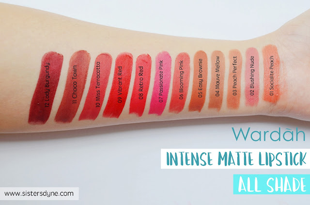 Wardah Intense Matte Lipstick all shade