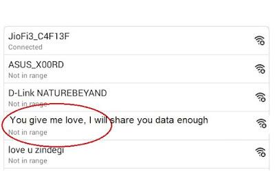 screenshot of clever wifi names