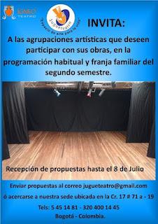 JUGUETEATRO invita a formar parte de su II Programación 2018