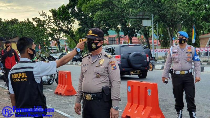 Tindaklanjuti Inpres Nomer 6 2020 Tentang Percepatan Penanganan Covid-19, Polda Riau Lakukan Penertiban Personil