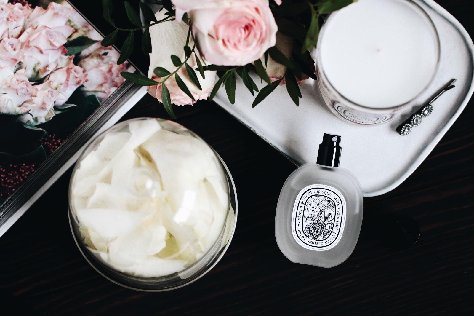 diptyque eau rose delight bougie parfum cheveux avis test