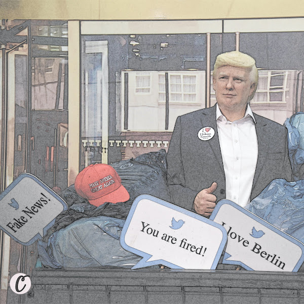 Madame Tussauds wax museum in Berlin has placed its statue of President Donald Trump in the dumpster as a