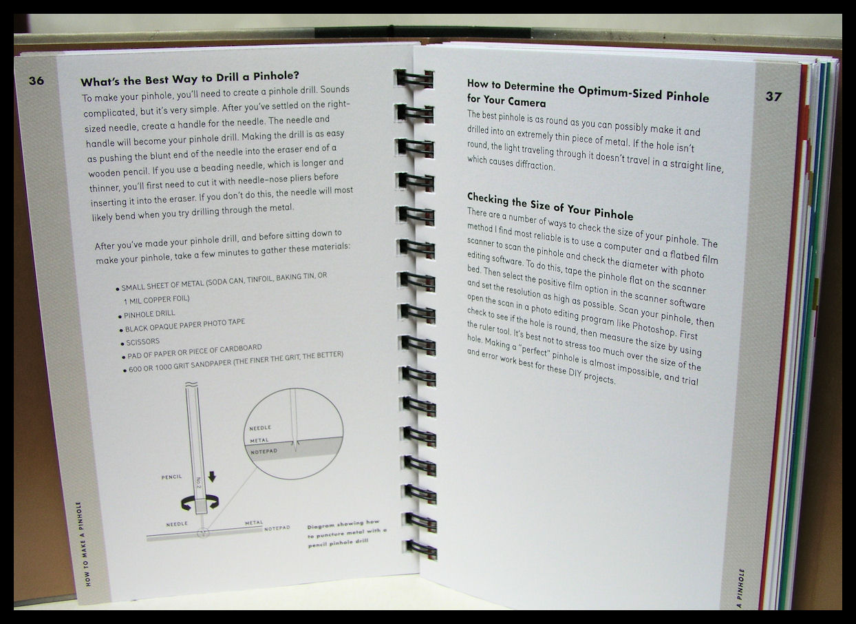 hight resolution of  the book is wire bound inside the hard cover meaning it lays flat making it far more useable on the workshop table while attempting to make a camera