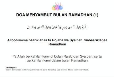 Kumpulan Doa Puasa Ramadhan