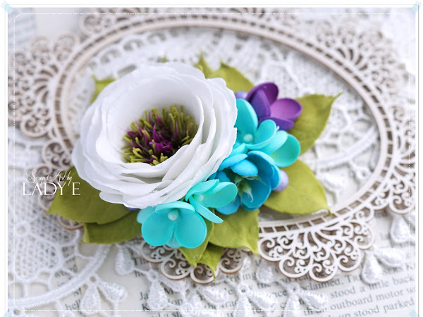 Foamiran Flowers Hairpin
