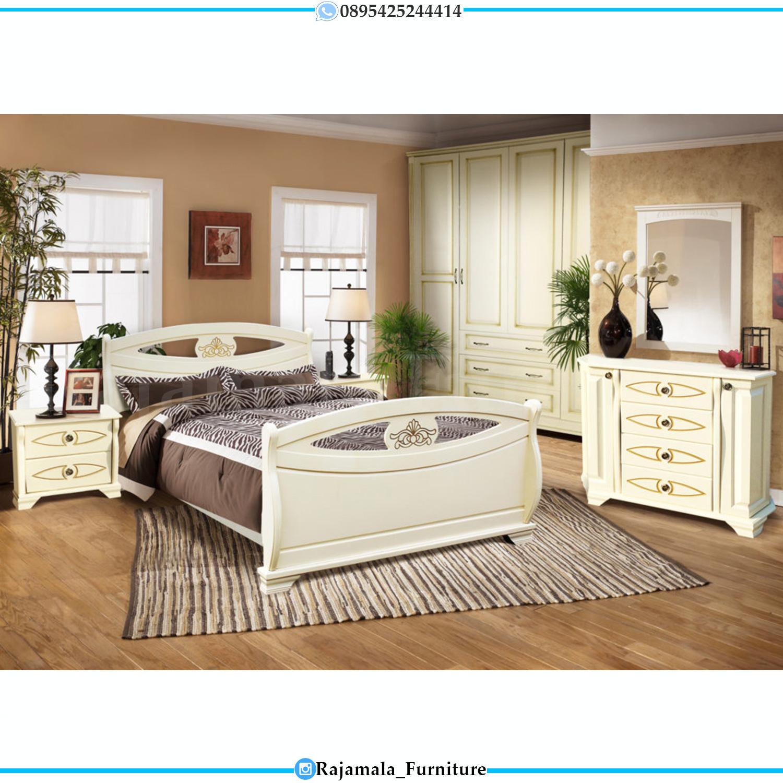 New Model Kamar Set Mewah Minimalis Luxury White Camonic Color RM-0086