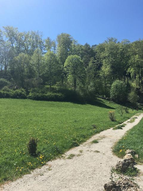 Fränkische Schweiz - Wanderweg bei Gössweinstein