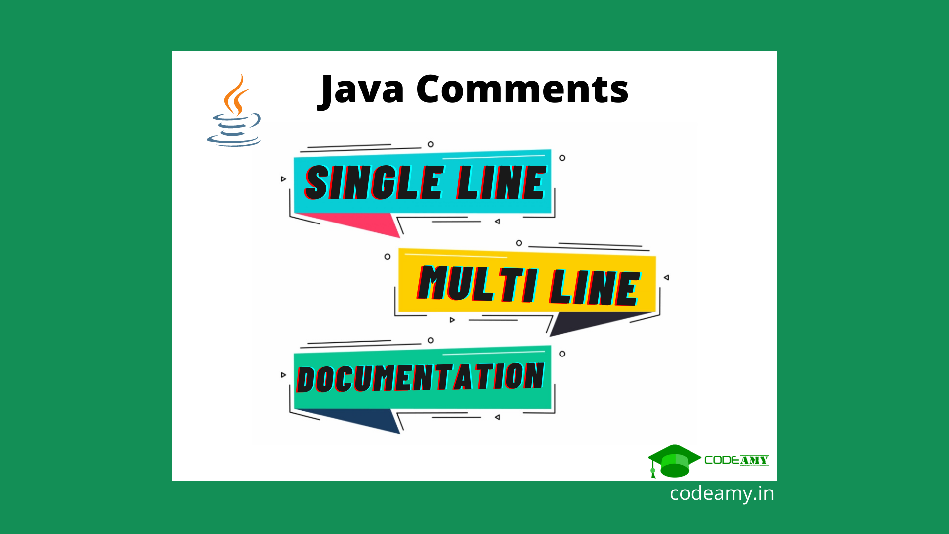 Java Comments and 3 types of Java Comments
