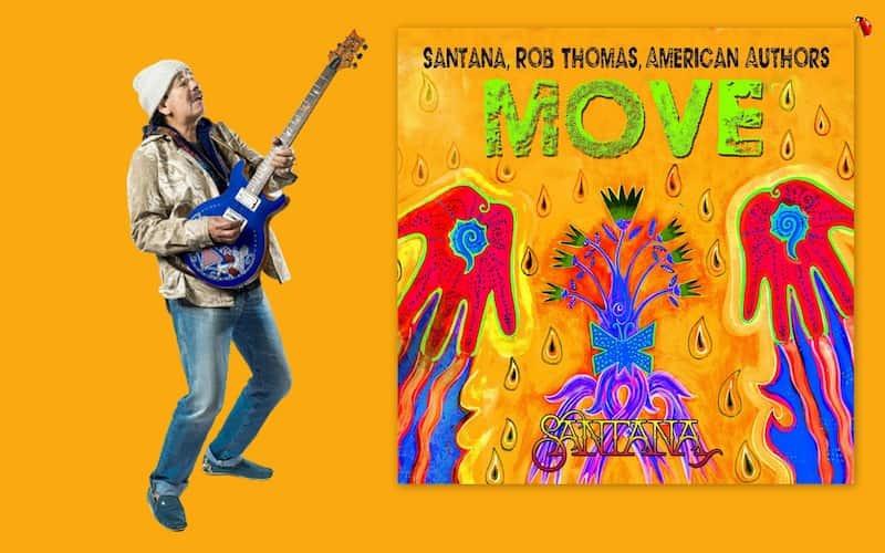"""Um dos maiores hits do fim dos anos 90 foi """"Smooth"""", faixa que unia Santana com Rob Thomas, vocalista do Matchbox 20. Agora, 22 anos depois, o artistas se reencontram em """"Move"""", uma explosiva faixa que anuncia """"Blessings and Miracles"""", o novo álbum de estúdio do lendário guitarrista mexicano. Previsto para o dia 15/10, o novo disco é um lançamento BMG."""