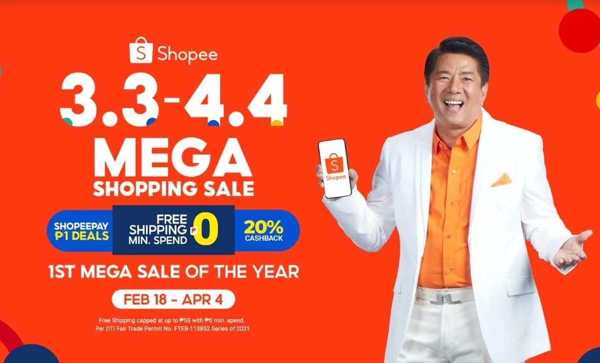 Shopee Kicks Off 3.3 - 4.4 Mega Shopping Sale with its Newest Brand Ambassador, Willie Revillame
