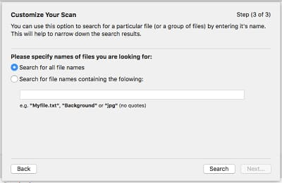 Customize the particular file search