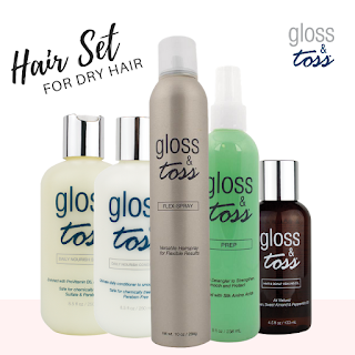 Hair Care Kit for Dry Damaged Hair Type by Gloss & Toss