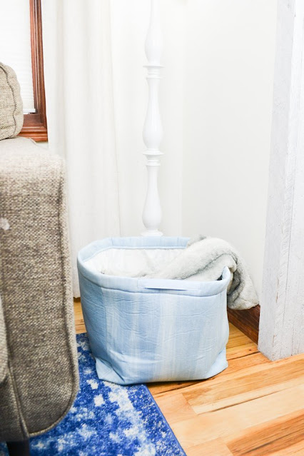 diy large fabric bin