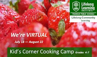 We're Virtual - Kids' Corner Cooking Camp – Grades 4-7
