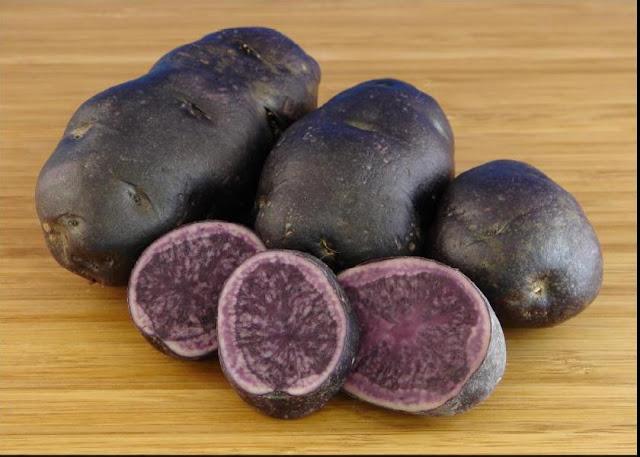 синий и лиловый картофель,, Необычные и удивительные овощи и фрукты