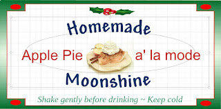 Label for Apple Pie a' la mode Moonshine