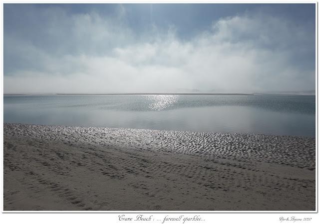 Crane Beach: ... farewell sparkles...