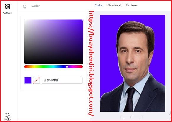 Cara mengubah background foto menjadi biru secara online