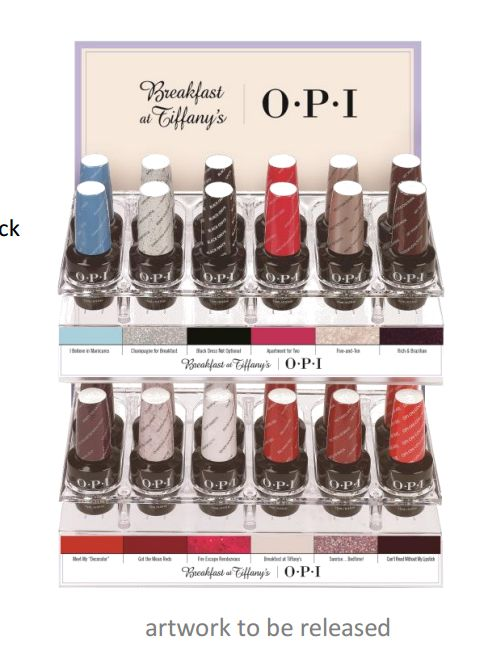 1 color palette with chain and label - Opi Gel Color Chart