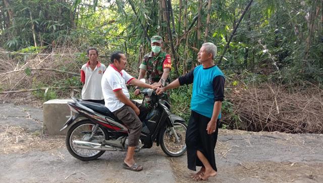 Kodim Sragen - Tenang Dan Waspada Itulah Himbauan Babinsa Kwangen  Cegah Covid-19