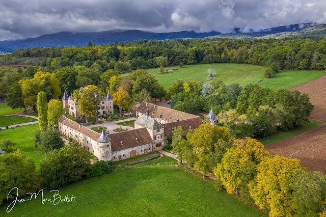 Château de Thanvillé, vue aérienne (oct. 2020)