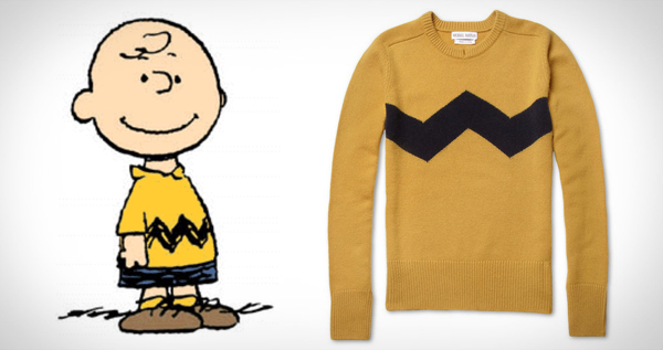 Charlie Brown sweater from mr porter