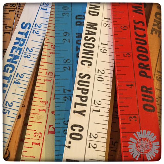 Yardsticks Found At Estate Sales By Thistle Thicket Studio. www.thistlethicketstudio.com