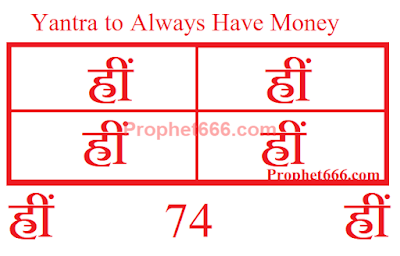 Hindu Occult Yantra to Always Have Money