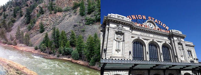 3. Colorado River near Kremmling CO from California Zephyr; 4. Union Station, Denver, CO