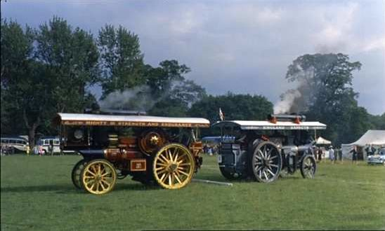 The Iron Maiden and Dreadnought traction engines in The Iron Maiden film