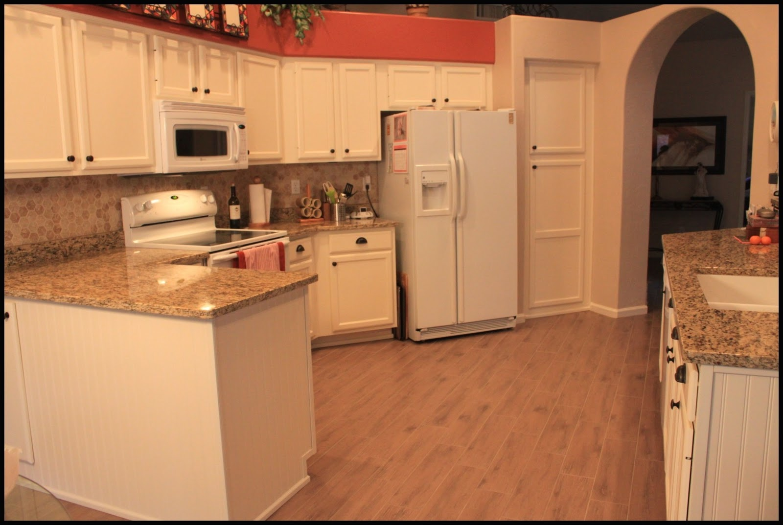 before and after white kitchen abinets off white kitchen cabinets paula kitchen 1