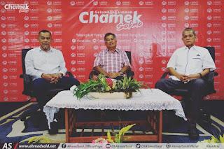 "Bersiaran langsung di Facebook bual bicara Chamek Sokmo dengan topik perbincangan ""Halatuju UMNO Terengganu"". Terima kasih atas jemputan sebagai ahli panel..."