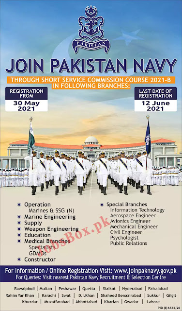 Join Pakistan Navy Through Short Service Commission Course 2021-B Online Apply/New