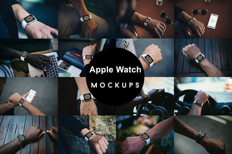 35 Best Free Apple Watch Mockup PSD Templates