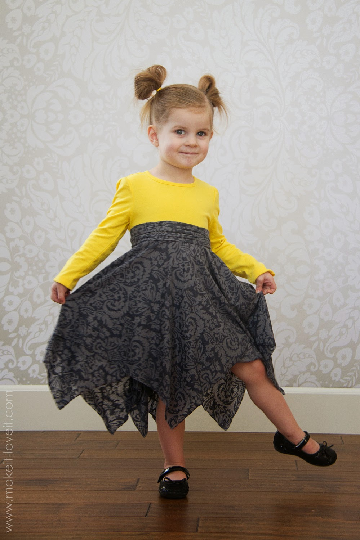 falda de picos infantil