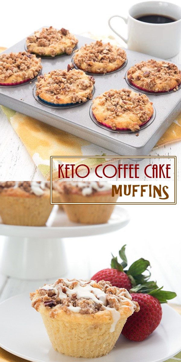 KETO COFFEE CAKE MUFFINS #ketorecipes