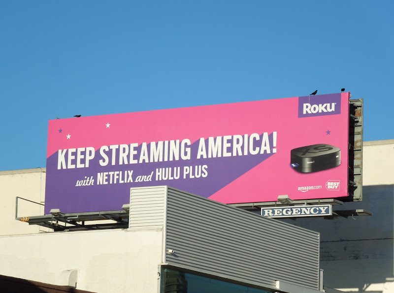 Keep streaming America Roku billboard