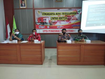 Pelihara Kerjasama Linsek Kecamatan Purwantoro, Pelda Puji Hadiri Lokakarya Mini Tribulan