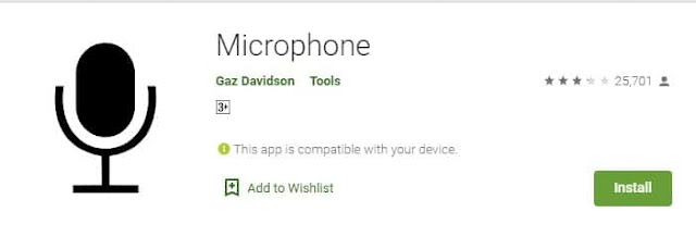 Making use of Microphone app