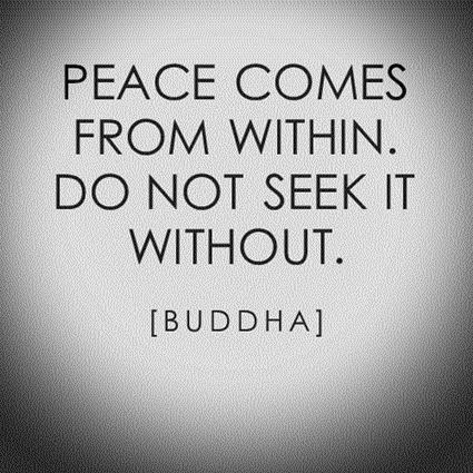 Buddha peace mind quote