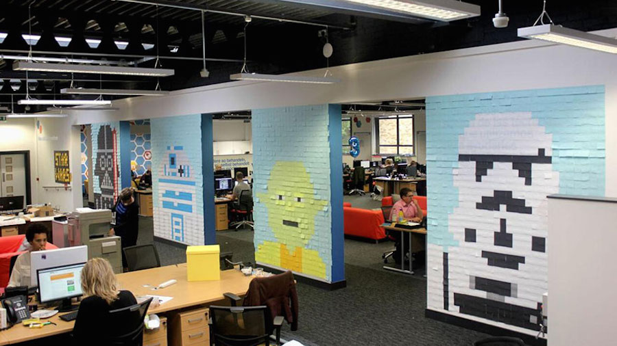 Office Decorating Ideas Blog Spice up your workplace to boost your enthusiasm and efficiency at work  with these amazing sticky notes decor ideas!