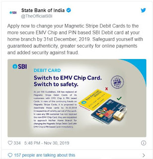 sbi atm card replacement news